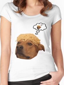 Spaghetti is Dog Women's Fitted Scoop T-Shirt