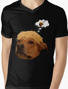 Spaghetti is Dog Mens V-Neck T-Shirt