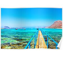 Lagoon of Balos, Crete Poster