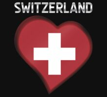 Switzerland - Swiss Flag Heart & Text - Metallic by graphix