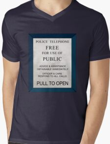 Police Box Mens V-Neck T-Shirt