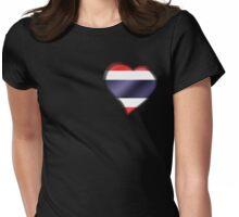 Thai Flag - Thailand - Heart Womens Fitted T-Shirt