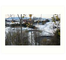The Fish Ponds in Downtown Bellingham Art Print