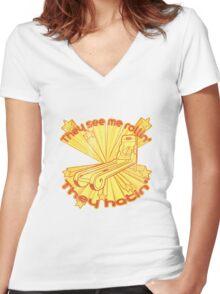 Skee Ball Hatin Women's Fitted V-Neck T-Shirt