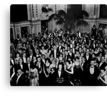 The Shining Overlook Hotel July 4th Ball Black and white Canvas Print