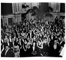The Shining Overlook Hotel July 4th Ball Black and white Poster