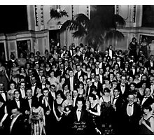The Shining Overlook Hotel July 4th Ball Black and white Photographic Print