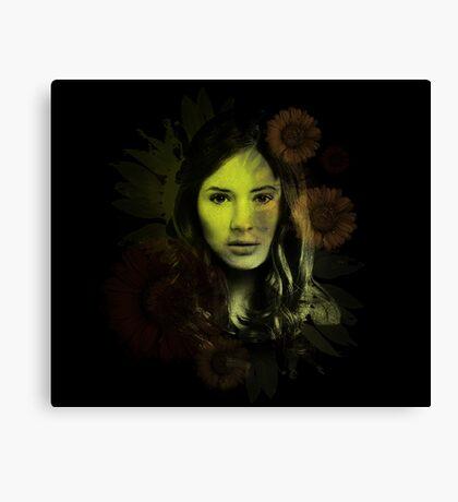 Splatter Amy Pond Canvas Print
