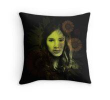 Splatter Amy Pond Throw Pillow
