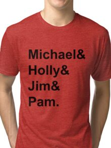 The Office Couples: Michael, Holly, Jim & Pam Tri-blend T-Shirt