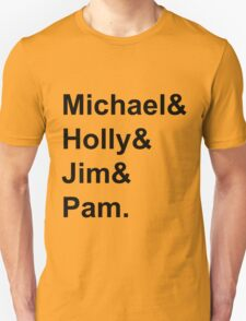 The Office Couples: Michael, Holly, Jim & Pam Unisex T-Shirt