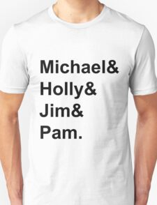 The Office Couples: Michael, Holly, Jim & Pam T-Shirt