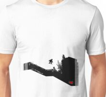 Snowboard Stairs to Chalk Outline Unisex T-Shirt