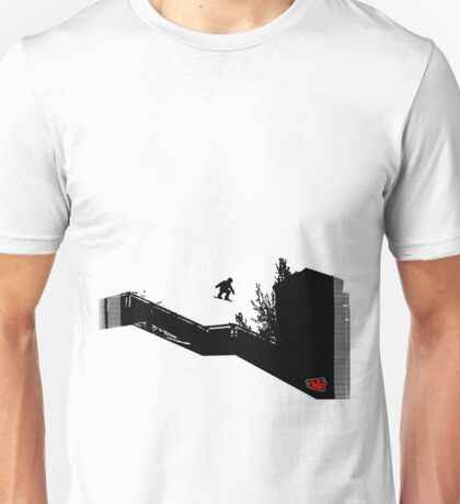 Snowboard Stairs to Chalk Outline T-Shirt
