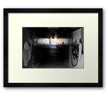 Urban underpass Framed Print