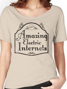 The Amazing Electric Internets Women's Relaxed Fit T-Shirt