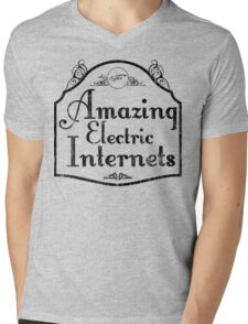 The Amazing Electric Internets Mens V-Neck T-Shirt