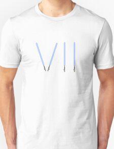 Star Wars The Force Awakens (Episode Seven) VII Blue Lightsaber T-Shirt