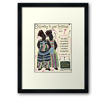Following in your Footsteps Framed Print