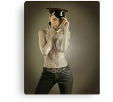 Girl of your dream wrapped up in plastic Canvas Print