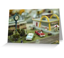 Miniature Town Scene Greeting Card
