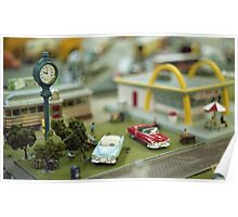 Miniature Town Scene Poster