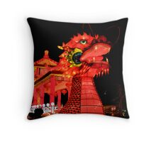 Dragon Boat Throw Pillow