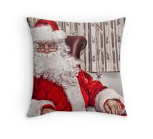 Santa Is In Town....Ho Ho Ho Throw Pillow