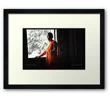 Buddhist Monk in Pai Framed Print