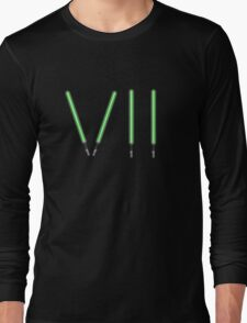 Star Wars The Force Awakens (Episode Seven) VII Green Lightsaber Long Sleeve T-Shirt