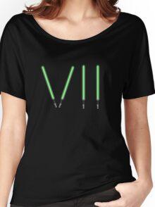 Star Wars The Force Awakens (Episode Seven) VII Green Lightsaber Women's Relaxed Fit T-Shirt