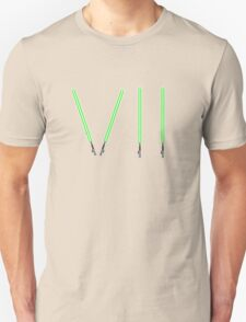 Star Wars The Force Awakens (Episode Seven) VII Green Lightsaber Unisex T-Shirt