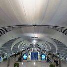Tunnel vision at Bangkok Airport by Ian Ker