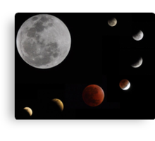 Phases of the moon _ Lunar eclipse 10.12.11 Canvas Print