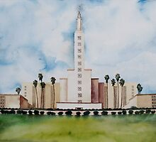 Los Angeles Temple by matt harward
