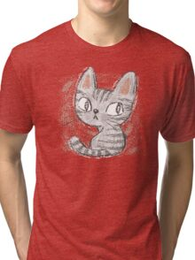 American Shorthair kitten Tri-blend T-Shirt