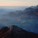 Hazy Sunset over Grand Canyon by Olga Zvereva