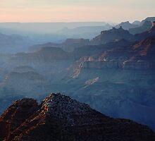 Hazy Sunset over Grand Canyon by Olga Zvereva