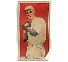 Benjamin K Edwards Collection Zamlock San Francisco Team baseball card portrait Poster