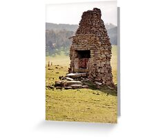 Home and hearth no more Greeting Card