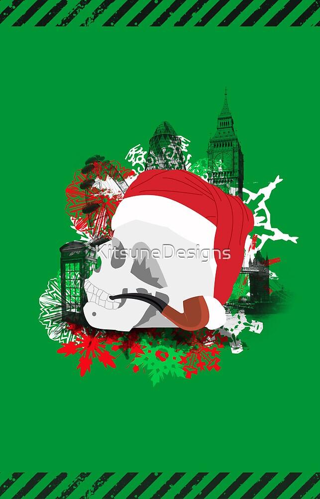 Skull Christmas - Green by KitsuneDesigns
