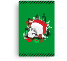 Skull Christmas - Green Canvas Print