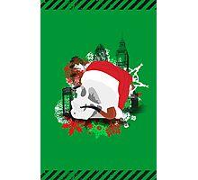 Skull Christmas - Green Photographic Print