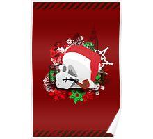 Skull Christmas - Red Poster