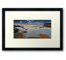 Foggy Shallows Framed Print