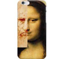 Mona Lisa Next to Da vinci iPhone Case/Skin