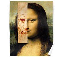Mona Lisa Next to Da vinci Poster