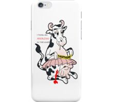crazy cow iPhone Case/Skin