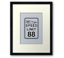 Speed limit Framed Print