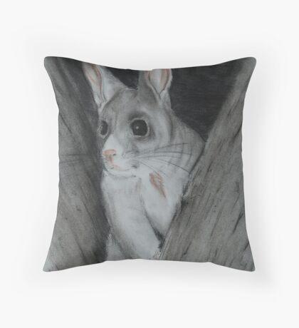 Brushtrail Possum (tinted charcoal) Throw Pillow